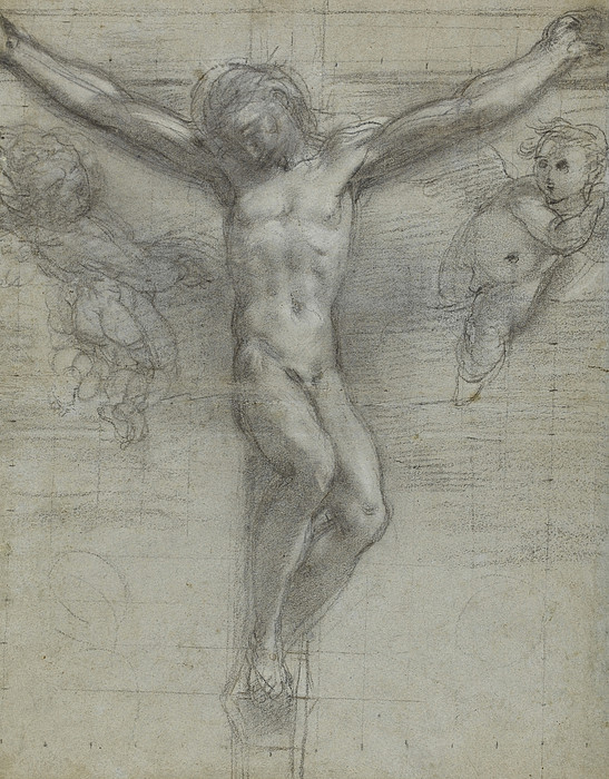 A Study Of Christ On The Cross With Two Print by Federico Fiori Barocci or Baroccio
