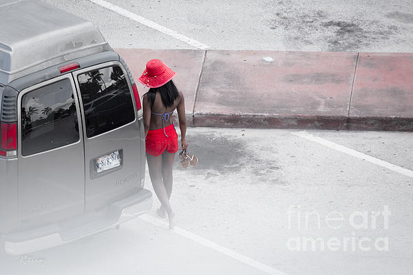 A Summer Splash Of Red  Print by Rene Triay Photography