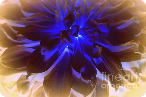A Touch Of Blue Print by Photographic Art and Design by Dora Sofia Caputo