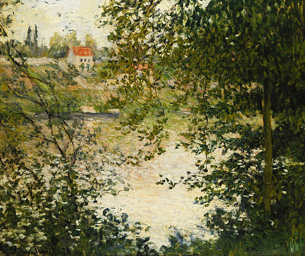 A View Through The Trees Of La Grande Jatte Island Print by Claude Monet