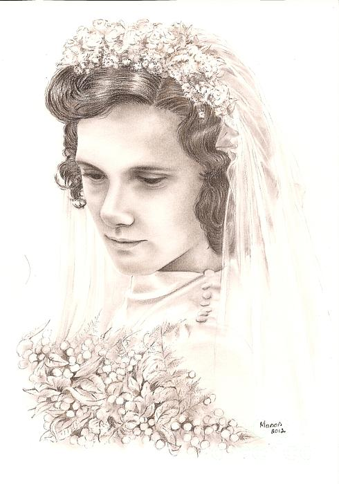 A War Bride Print by Manon  Massari