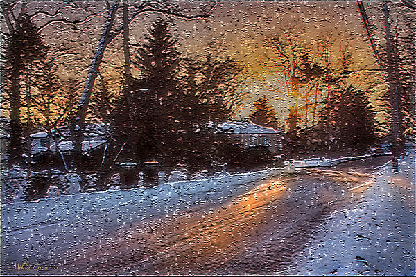 A Winter Sunset Print by Mikki Cucuzzo