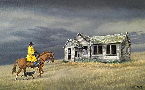 Abandoned Homestead-eastern Idaho Print by Paul Krapf