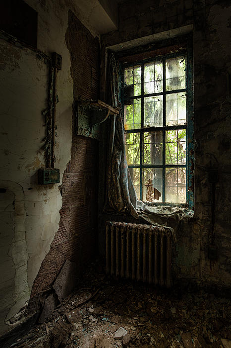 Abandoned - Old Room - Draped Print by Gary Heller