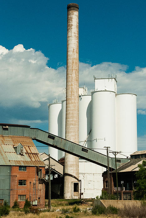 Abandoned Sugarbeet Mill Colorado Print by Robert Ford