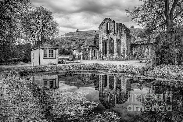 Abbey Reflections Print by Adrian Evans