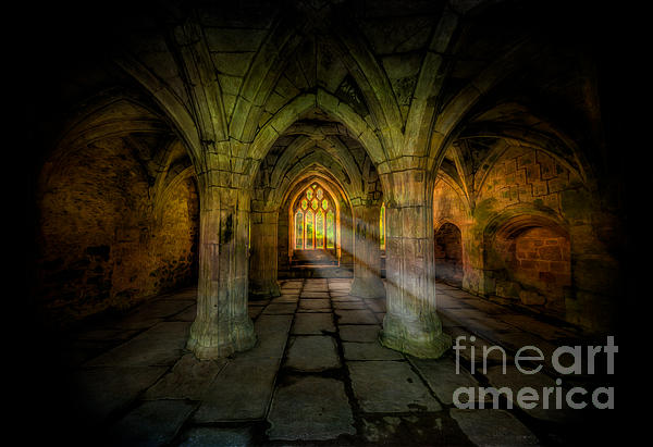 Abbey Sunlight Print by Adrian Evans