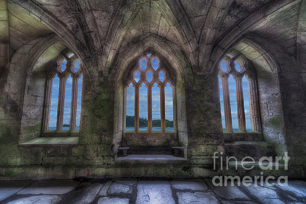Abbey View Print by Adrian Evans