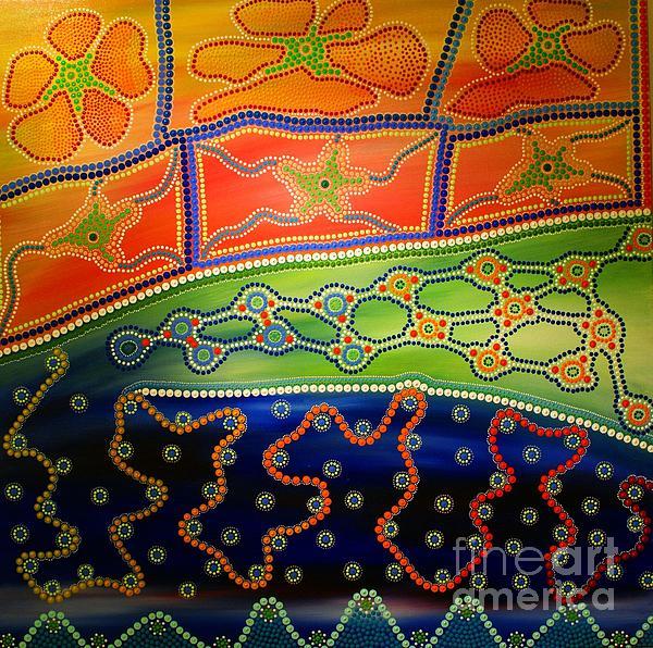 Aboriginal Inspirations 7 Print by Mariusz Czajkowski