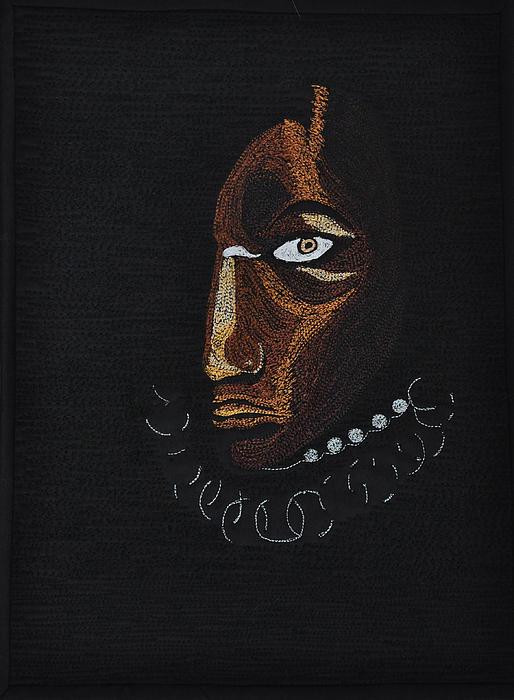 Aboriginal Woman Print by Jo Baner