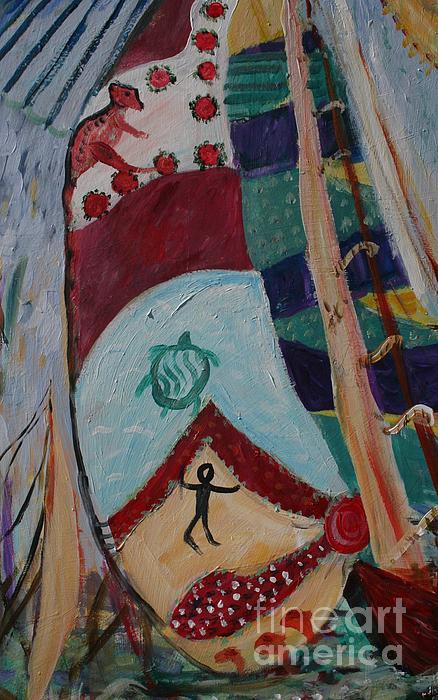 Aborigines Sail Print by Avonelle Kelsey