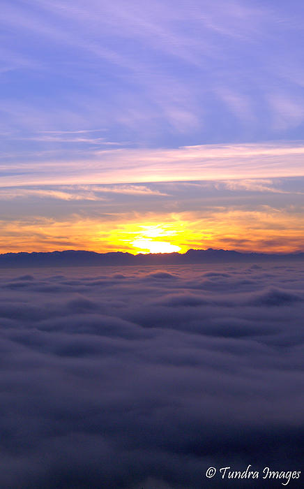 Above The Clouds... Print by Christopher Fridley