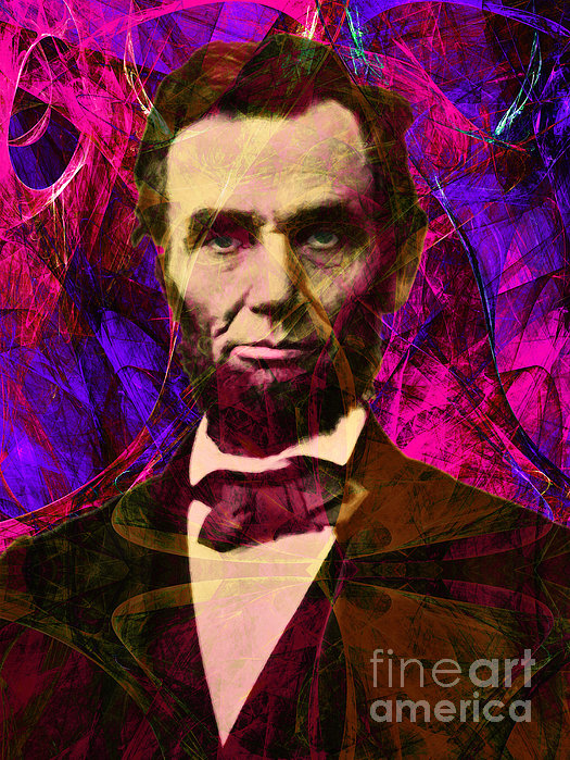 Abraham Lincoln 2014020502m68 Print by Wingsdomain Art and Photography