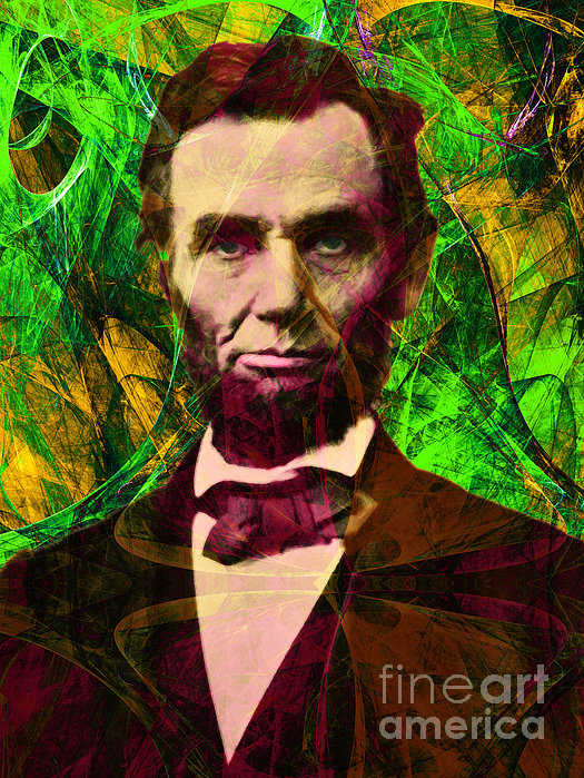 Abraham Lincoln 2014020502p68 Print by Wingsdomain Art and Photography