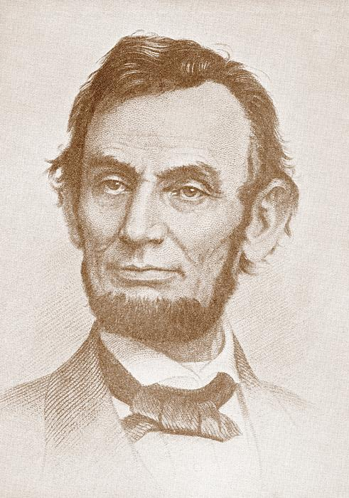 Abraham Lincoln Print by American School
