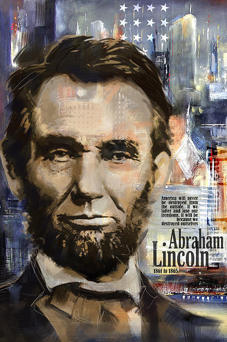 Abraham Lincoln Print by Corporate Art Task Force
