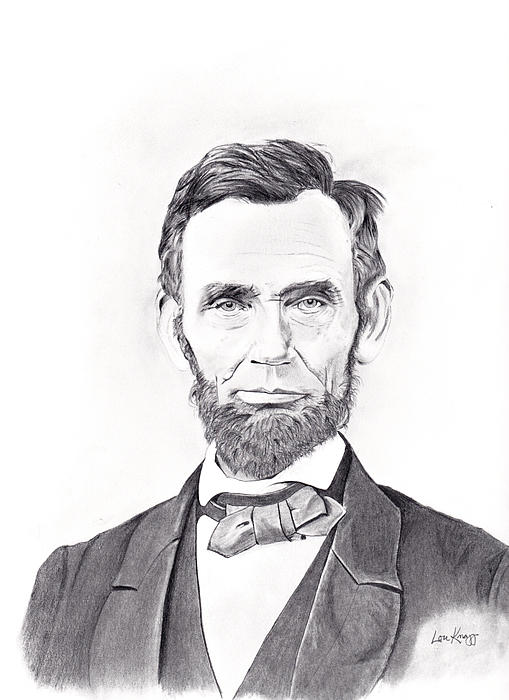 Abraham Lincoln Print by Lou Knapp