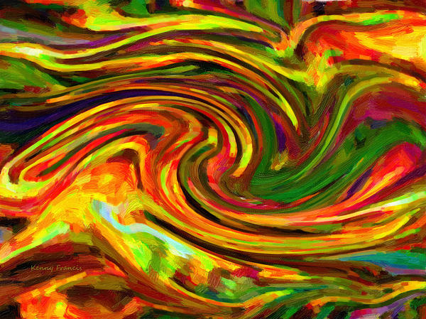 Abstract 17 Print by Kenny Francis