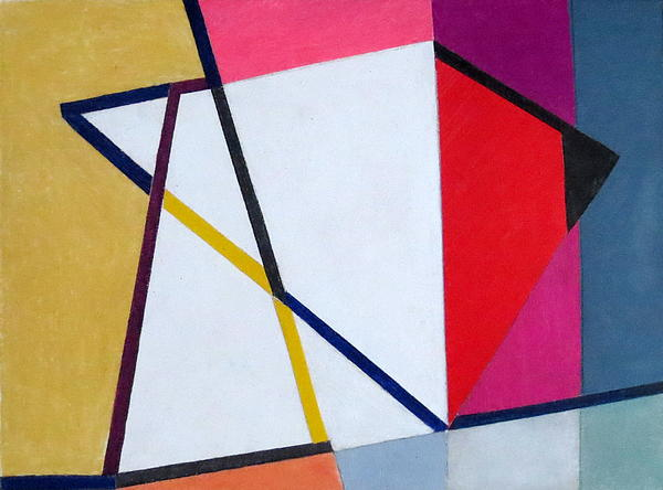 Abstract Angles V Print by Diane Fine