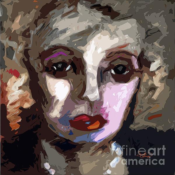 Abstract Art Bette Davis Eyes Print by Ginette Callaway