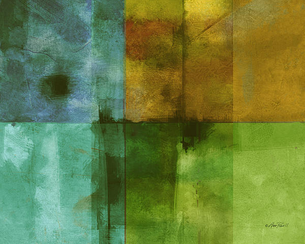 abstract - art- Color Block Rectangle  Print by Ann Powell