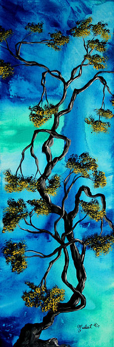 Abstract Art Original Landscape Painting Life Is A Maze By Madart Print by Megan Duncanson