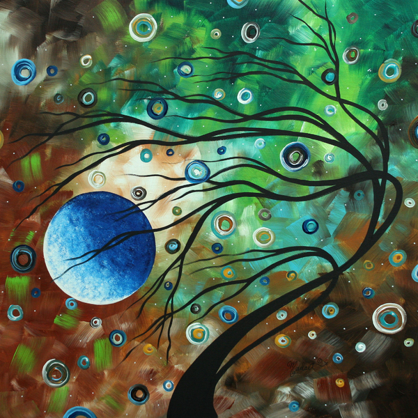Megan Duncanson - Abstract Art Original Landscape Painting MINT JULEP by MADART