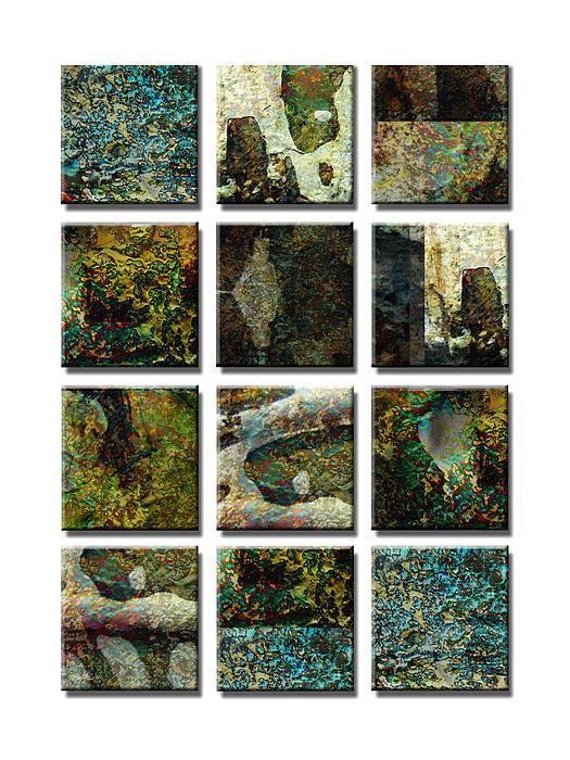 abstract - art- Twelve Print by Ann Powell