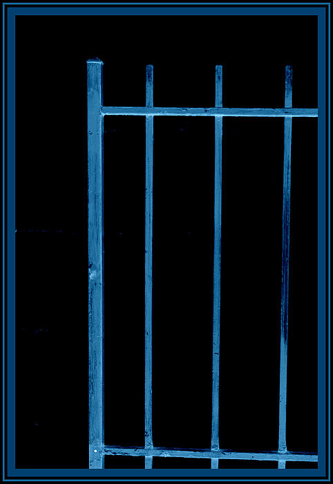 Kathy Barney - Abstract Blue Gate