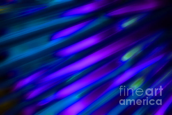 Abstract Blue Green Pink Diagonal Print by Marvin Spates