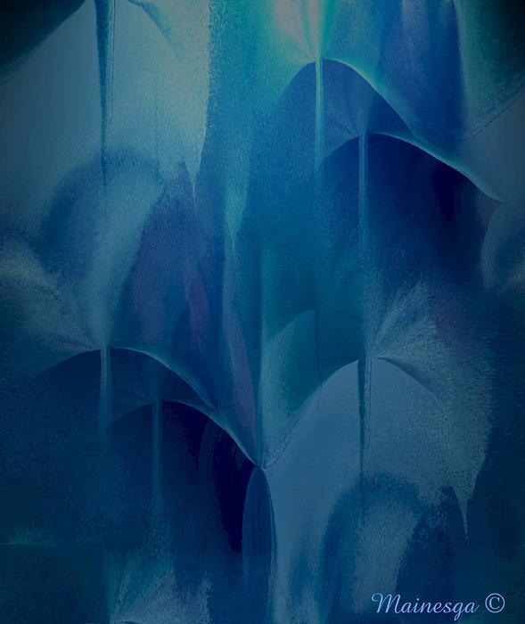 Abstract C-u-r Print by Ines Garay-Colomba