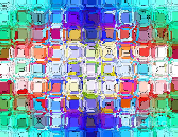 Abstract Color Blocks Print by Anita Lewis