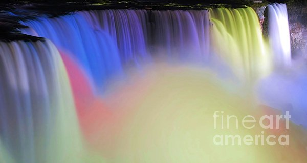 Abstract Falls Print by Kathleen Struckle