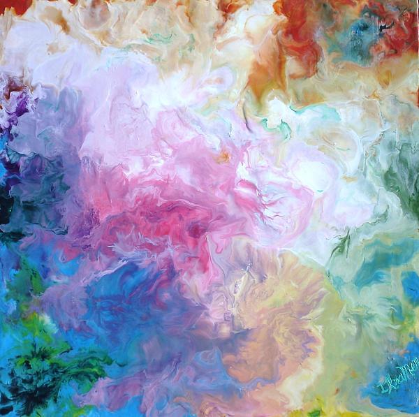 Abstract Forms Encaustic Print by Lisa Kramer