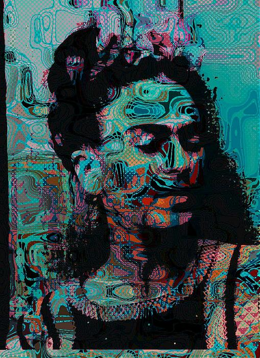 Abstract Frida Print by Bogdan Floridana Oana