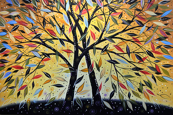 Abstract Landscape Modern Tree Art Painting ... New Day Dawning Print by Amy Giacomelli
