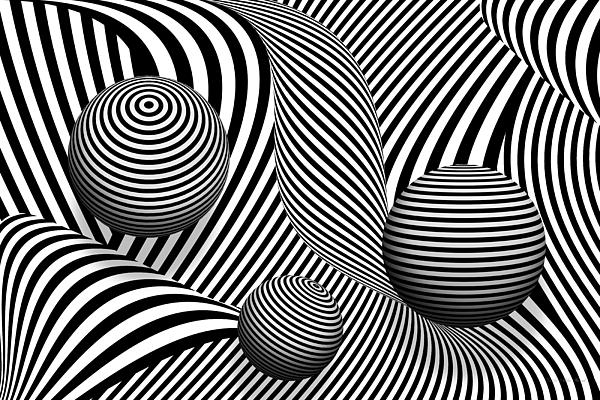 Abstract - Poke Out My Eyes Print by Mike Savad