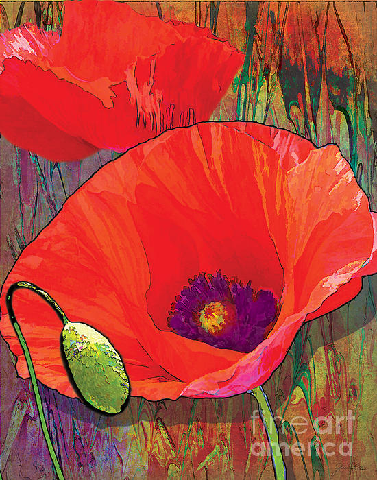 Abstract Poppy B Print by Grace Pullen