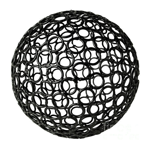 Abstract Sphere Print by Tony Cordoza