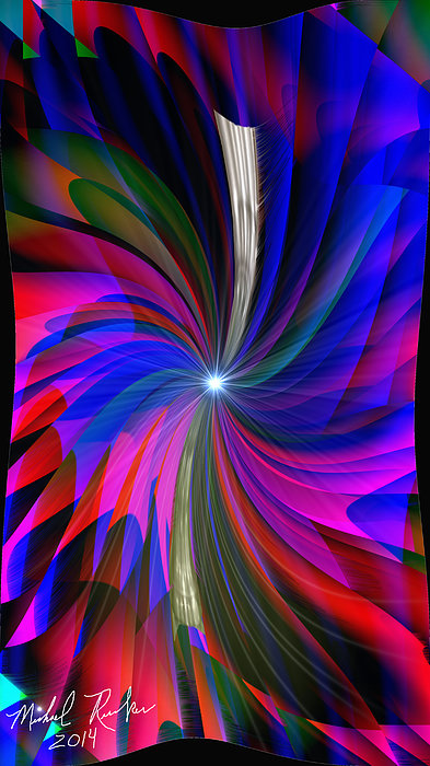 Abstract - Spinner Print by Michael Rucker