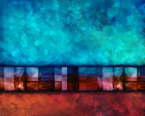 Abstract Study Seven Print by Ann Powell