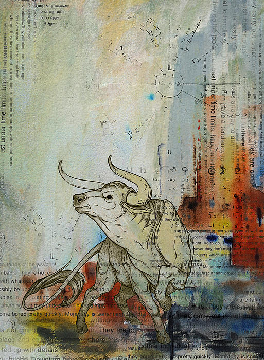 Abstract Tarot Art 017 Print by Corporate Art Task Force