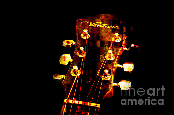 Abstract - Ventura Highway - Guitar - Musician Photograph