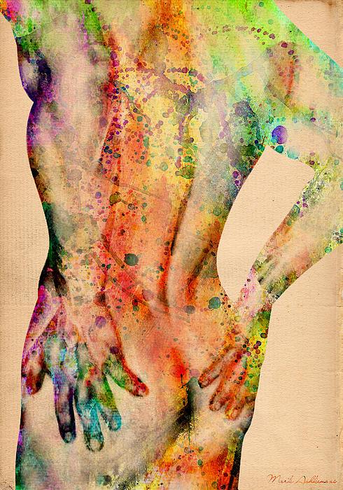 Abstractiv Body - 4 Print by Mark Ashkenazi