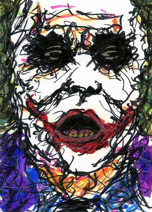 Aceo Joker Vi Print by Rachel Scott