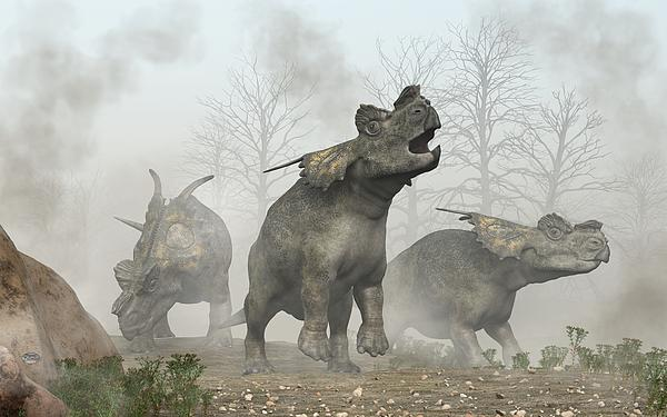 Achelousauruses Print by Daniel Eskridge