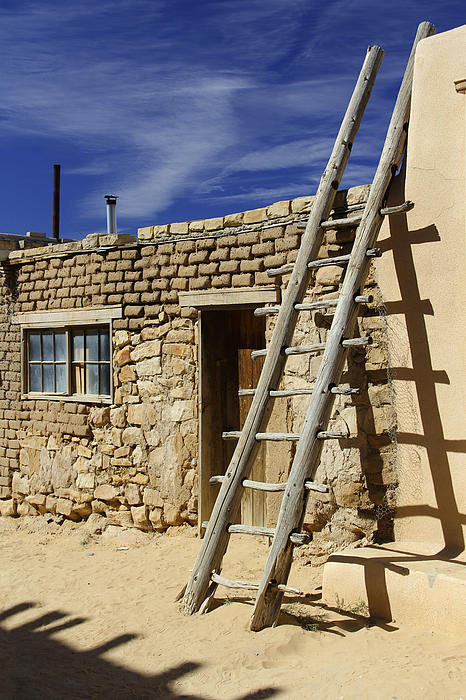 Acoma Pueblo Adobe Homes 4 Print by Mike McGlothlen