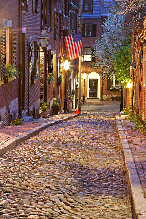 Acorn Street Of Beacon Hill Print by Juergen Roth