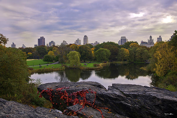 Across The Pond 2 - Central Park - Nyc Print by Madeline Ellis