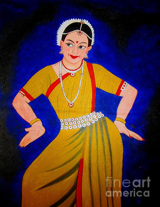 Priyanka Rastogi - Acrylic Painting-An Indian Dancer